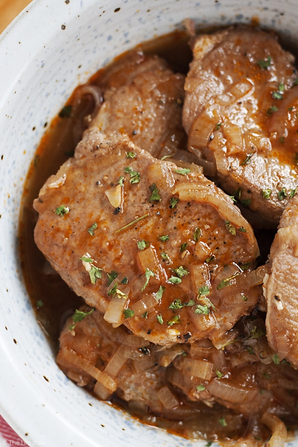 pork chop temperature
