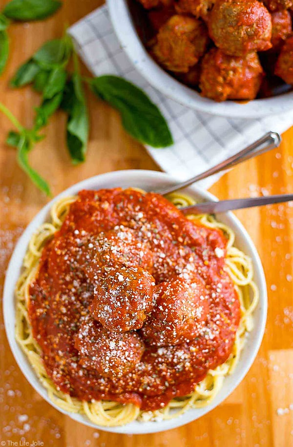 This is part two of the only Meat Sauce recipe you'll ever need. It's an extremely detailed (but still simple and easy) recipe for my Grandma's homemade, Italian Sunday Sauce and this seriously is the very best sauce you'll ever taste. This second part is all about adding the meatballs and fall-apart-tender pork for your sauce as well as the secret ingredient and putting it all together!