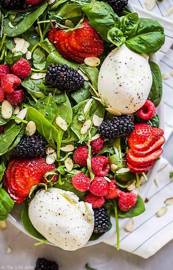 Summer Berry and Burrata Salad