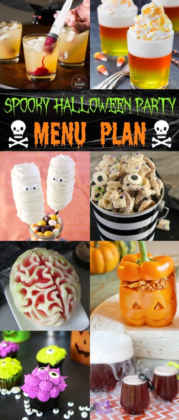Check out this awesome Spooky Halloween Party Menu plan full of fantastic recipes from your favorite bloggers!