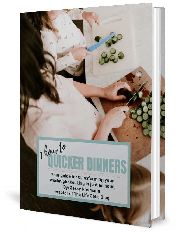 1 Hour to Quicker DInners 3D mockup book cover
